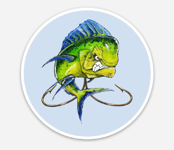 Alt= Mahi Mahi fish sticker
